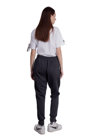 REFLECTIVE EMBLEM LINE TRACK PANTS | GRAY - SALES