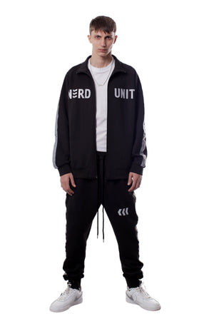 REFLECTIVE EMBLEM TRACK JACKET | BLACK - SALES