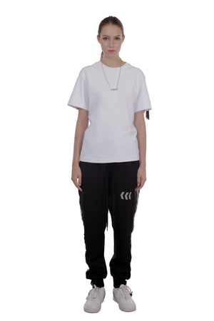 REFLECTIVE EMBLEM TRACK PANTS | BLACK - SALES