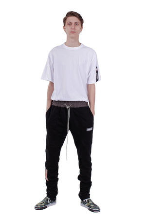 SS18 ANKLE ZIP TRACK PANTS | BLACK