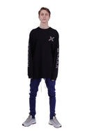 CONFEDERATE CROSS LONG SLEEVES TEE