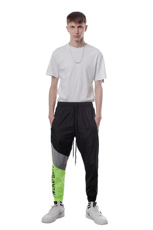 REFLECTIVE WINDBREAKER PANTS | NEON GREEN