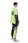 EMBLEM REFLECTIVE WINDBREAKER JACKET | NEON GREEN