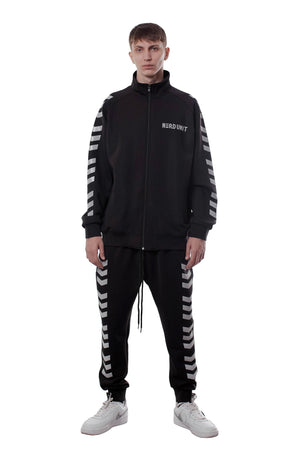 REFLECTIVE EMBLEM LINE TRACK JACKET | BLACK - SALES