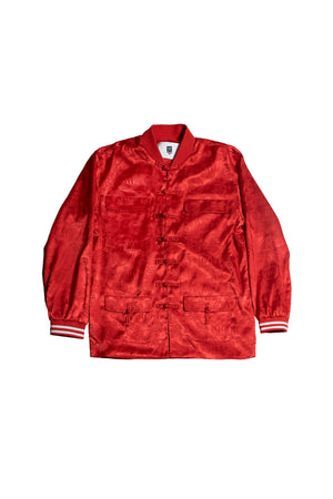 ORIENTAL JACQUARD JACKET | RED - SALES