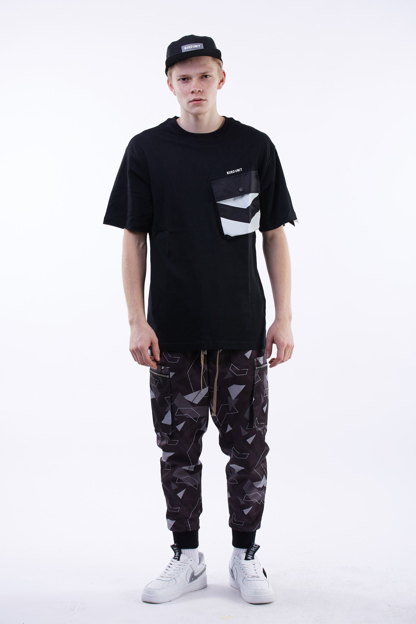 Military Flight Pocket Tee (Black)