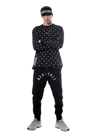 POLKA DOTS LONG SLEEVES TEE | BLACK
