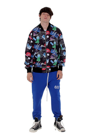 MF ALL OVER PRINT BOMBER JACKET | BLACK - SALES