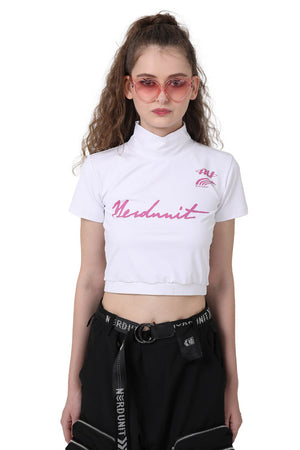 HIGH CROP TOP | WHITE