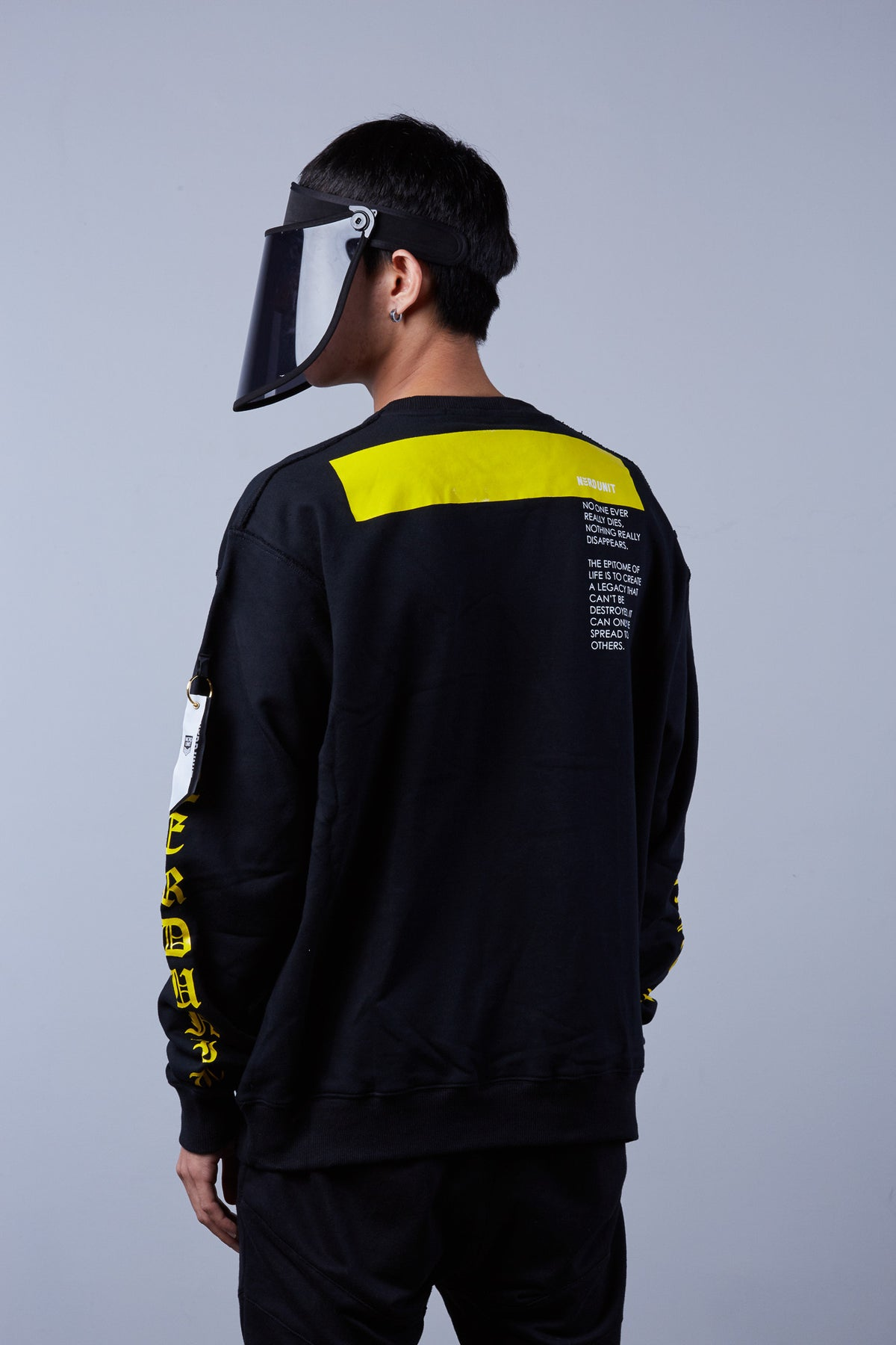 N-E-R-D Sweater - Black with Yellow Box