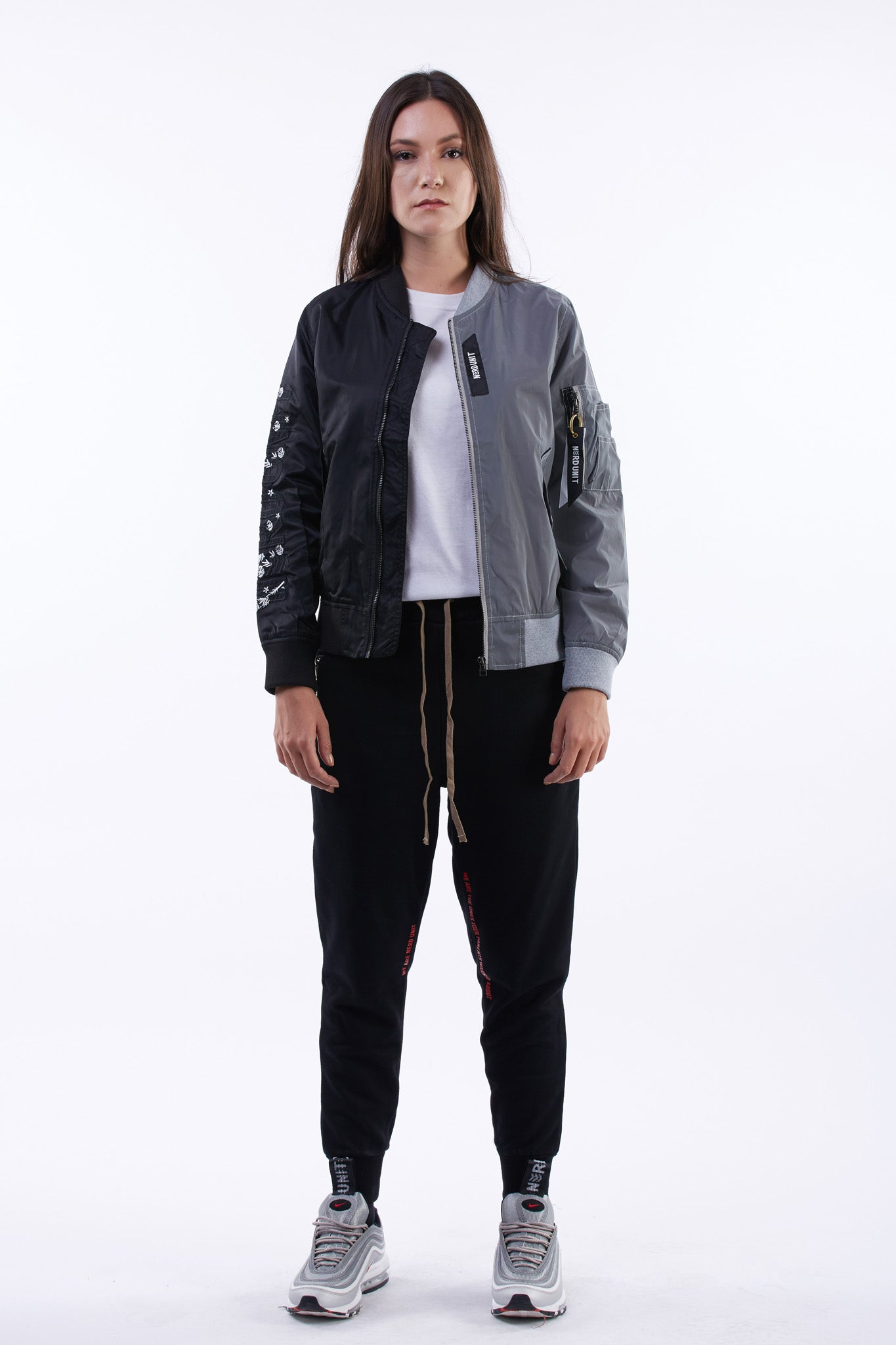 Semi Reflective MA1 Jacket