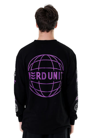 GLOBE LONG SLEEVES TEE | BLACK