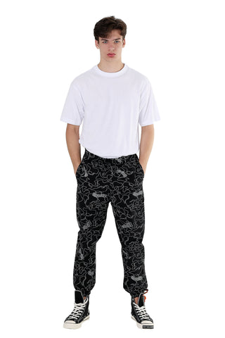 REFLECTIVE CAMO JOGGER PANTS | BLACK