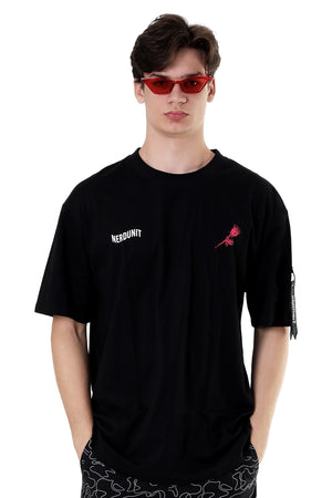 FENCING ROSE TEE | BLACK