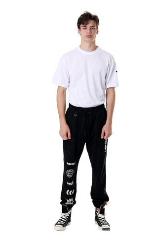 LOGOMANIA JOGGER PANTS | BLACK