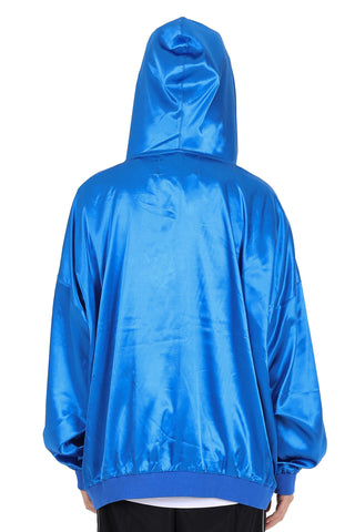 WORLDWIDE METALLIC HOODIE | BLUE