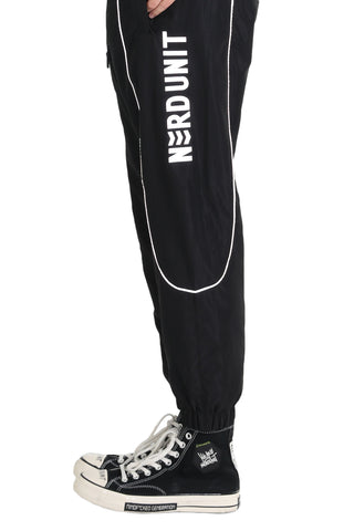 REFLECTIVE THREAD JOGGER PANTS | BLACK