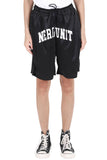 COLLEGE LOGO MESH SHORT | BLACK