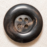 Horn Button - Round Black
