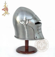14th Century Visored Bascinet Knights Reenactment Combat Helmet reproduction