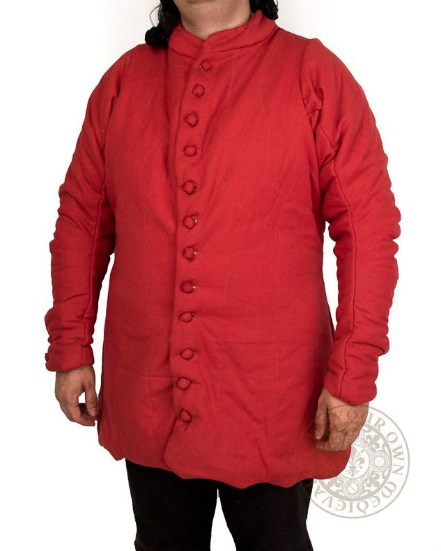 14th century Medieval gambeson with dagged edges for reeanctment combat