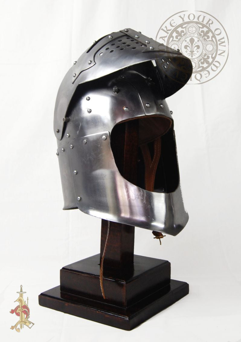Bascinet Early to Mid 14th Century Helm (14 Gauge)
