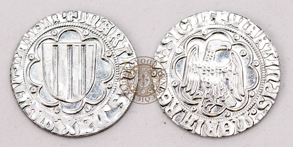 14th century sicilian reproduction Medieval coins
