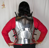 15th century Milanese armour breastplate reproduction functional reenactment combat armour