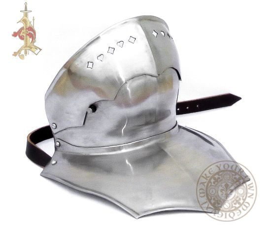 15th century bevor without back for reenactment  armour