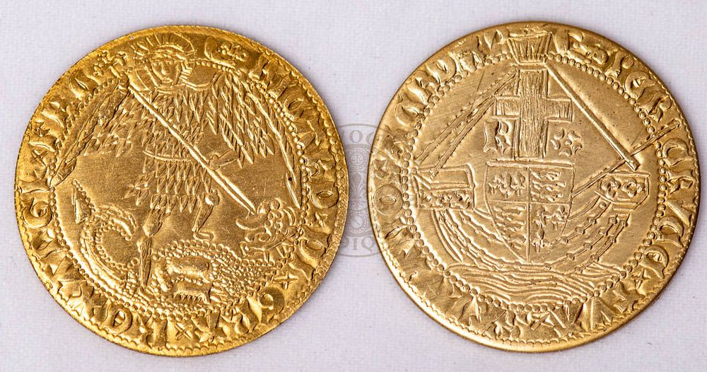 15th century reproduction Richard III gold angel  coin