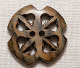 Horn Button - Round Carved