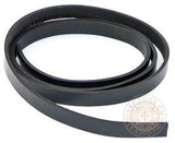 Black leather belt blank 12mm wide strap width