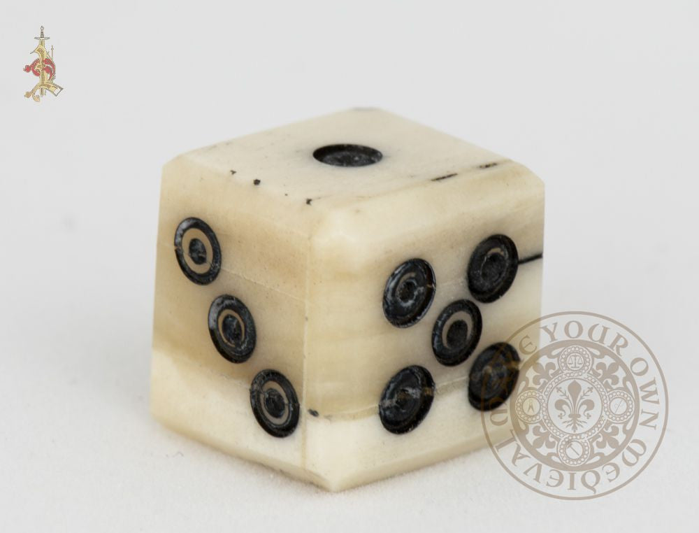 Ring and Dot Bone Dice 12mm