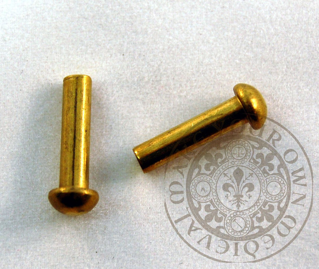 Solid Brass Rivet 1/8 x 1/2