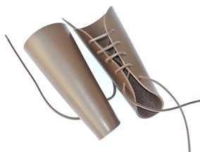 Brown Leather Archery Bracers