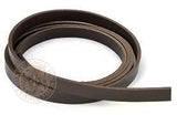 Brown leather belt blank 12mm wide strap width