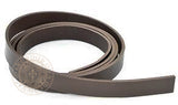 Brown leather belt blank 38mm wide strap width