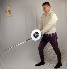 Buckler Shield Medieval fighting combat 15th century