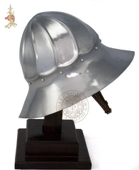 Burgundian sallet helm 15th-century medieval re-enactment armour
