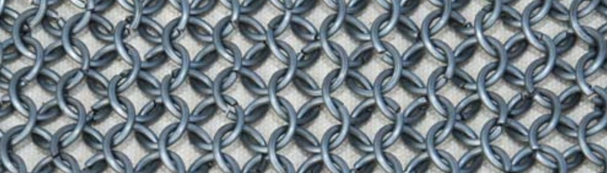 Butted chainmail rings available per kg loose in Australia