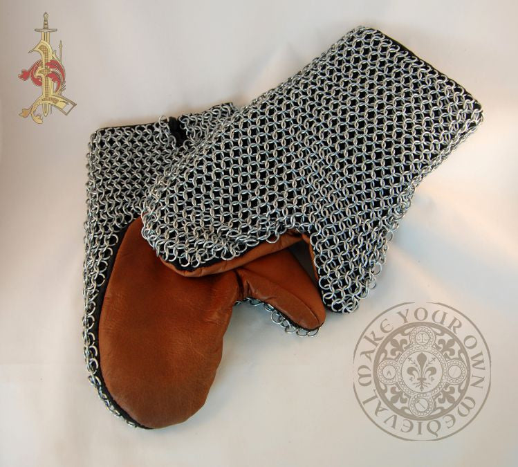 Chain Mail mittens armour Norman, Crusade era