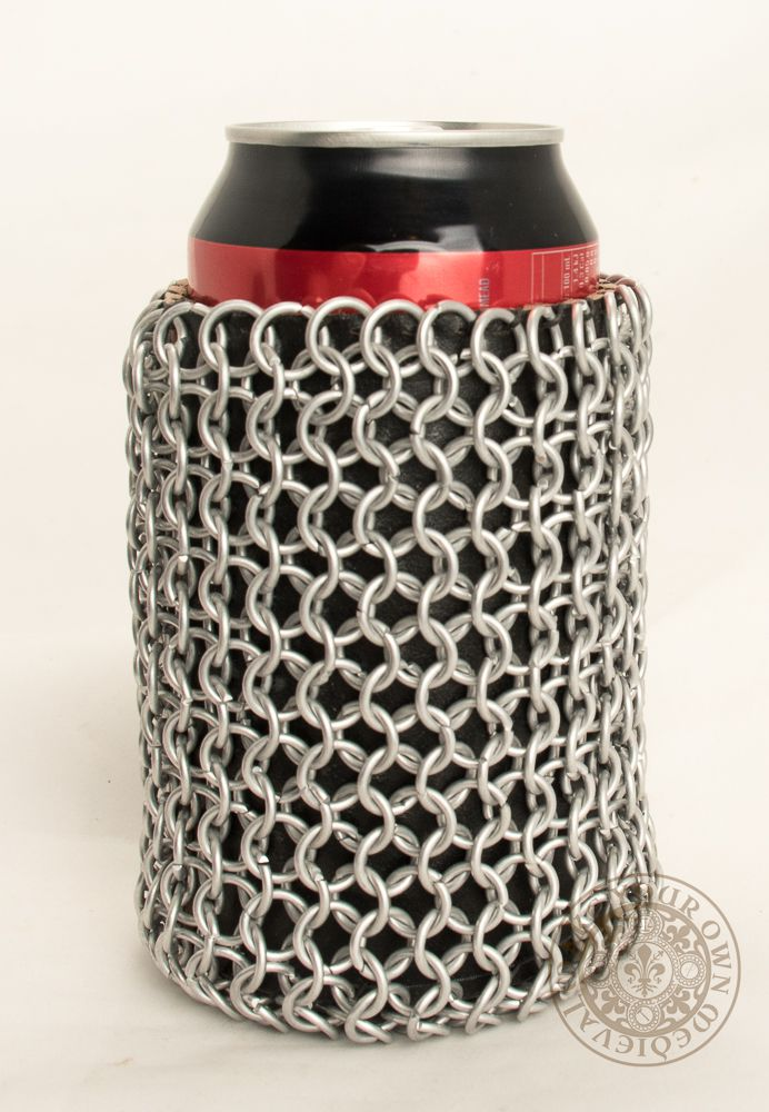 Chain mail beer can holder or cooler