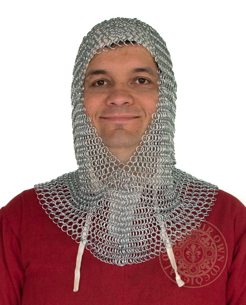 Chain mail coif medieval armour 1402ZP