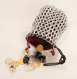 Chain mail dice bag medieval themed roleplaying game gift