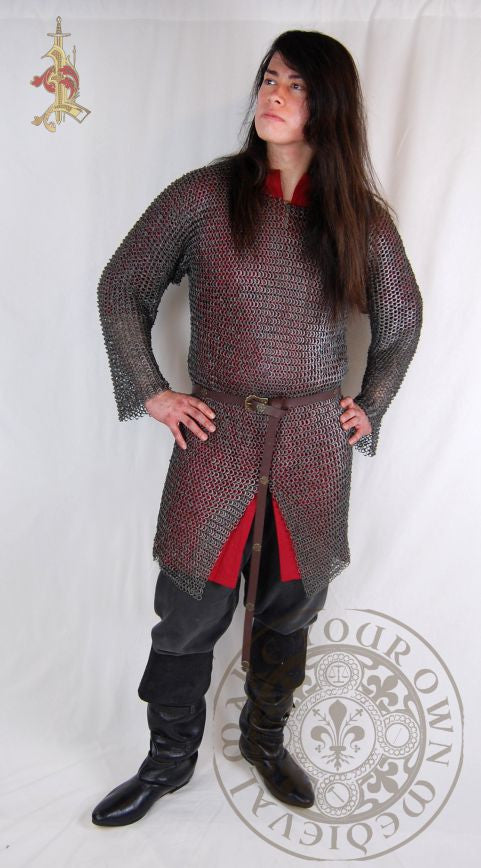 Chainmail hauberk riveted Medieval armour