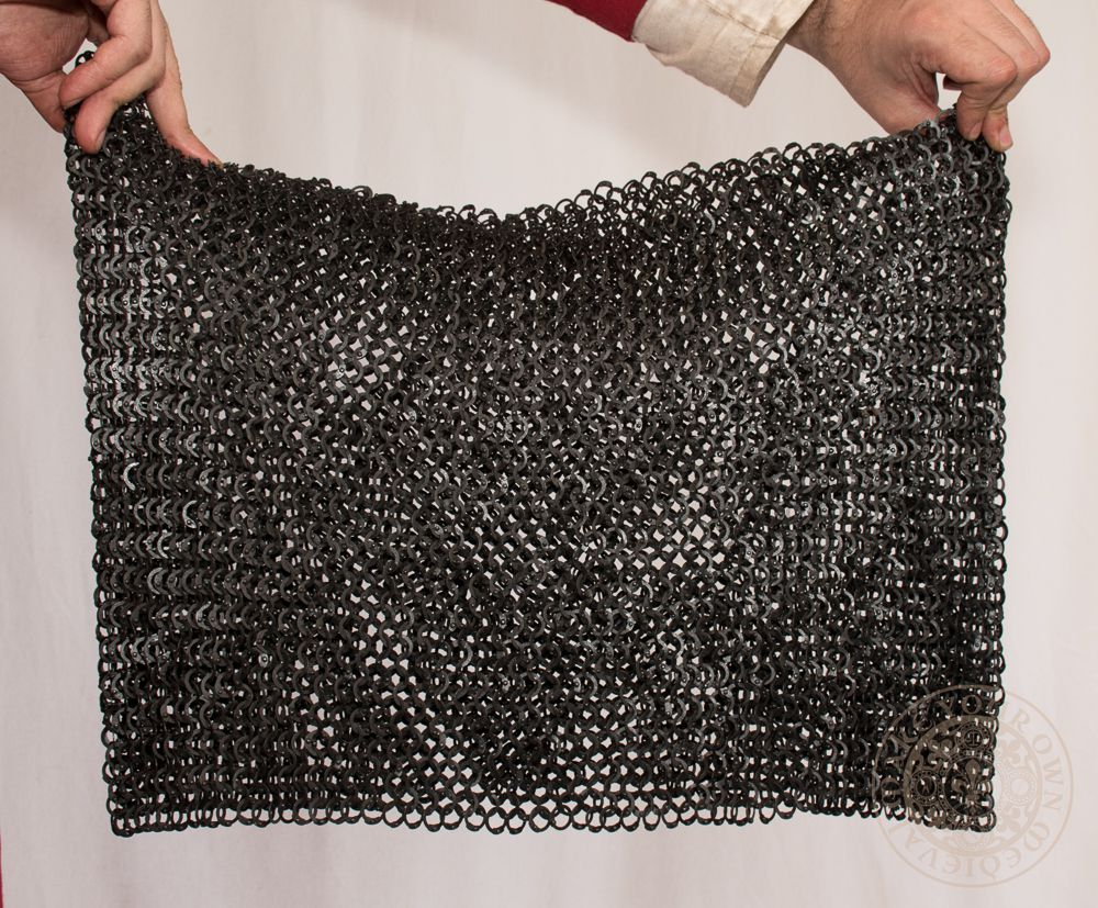 Chain mail skirt Medieval armour black 9mm 18g rings