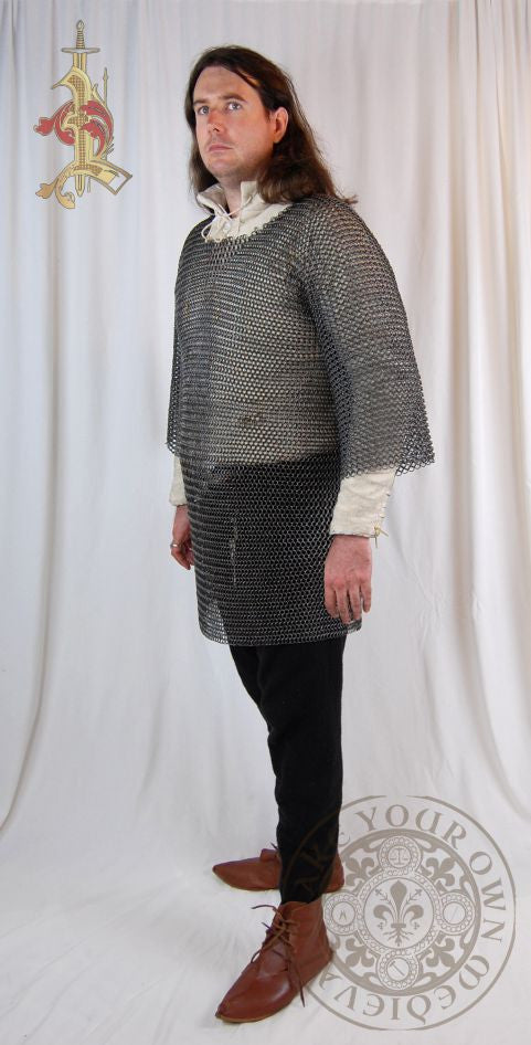 Chainmail Haubergeon half sleeve medieval reenactment and LARP