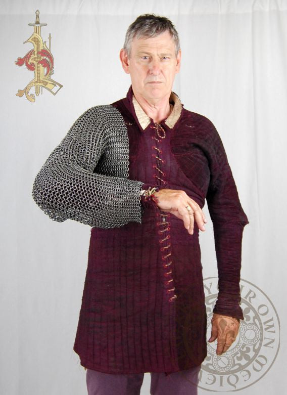 Chainmail Sleeves with Parital Chest Butted High Tensile Wire
