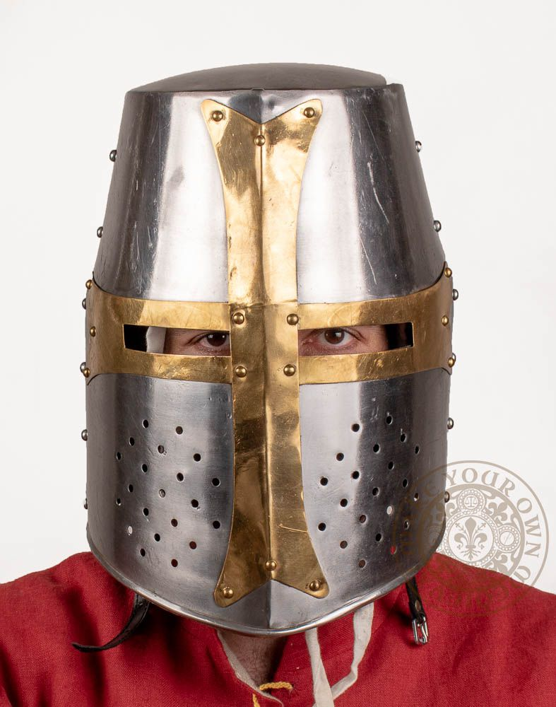 Crusader helmet reproduction