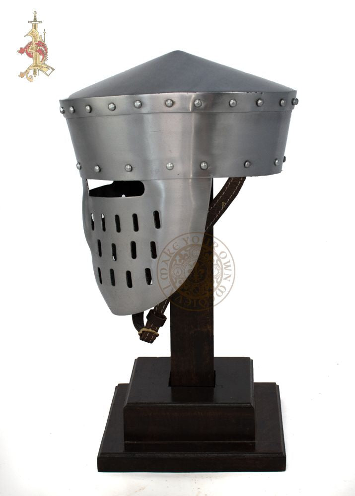 Crusader medieval helm reproduction